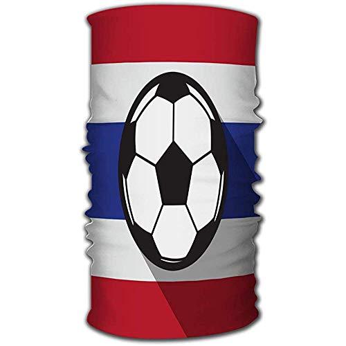 Head Wrap,Icono De Fútbol con Tailandia Flage Sport Headwe Máscara Banda De Sudor Poliéster Secado Rápido Sombreros para Montar A Caballo Senderismo