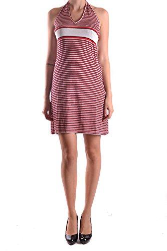 D&G Dolce & Gabbana Kleid nk145 Donna S Rot Baumwolle S