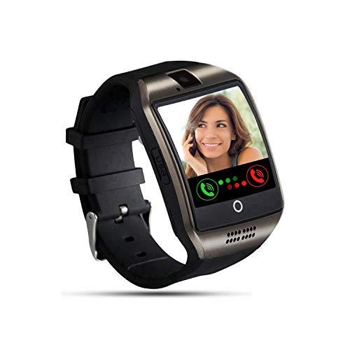Tipmant Smartwatch Orologio Fitness Uomo Donna Bambini Smart Watch con SIM Card Slot Fotocamera Contapassi Cronometro Fitness Tracker Orologio Telefono per Samsung Huawei Xiaomi Android Nero