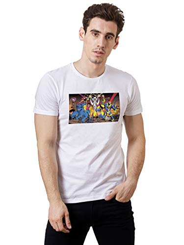 X-Men By Free Authority Printed Regular fit Men T-Shirt (STY-19-20-001047_White Small)