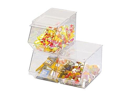 WACA® 6000-700 Universal-Box mit Frontklappe Aufbewahrung glasklar