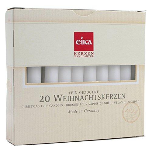 Brubaker - Juego de 20 velas de Navidad, color blanco.