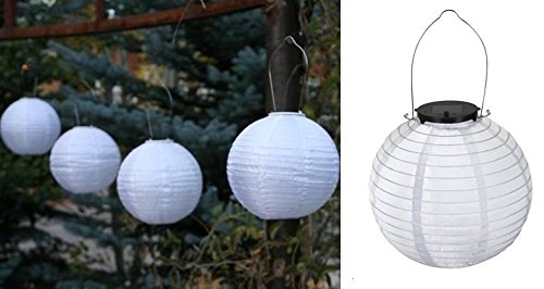 MC-TREND® 6er Set LED Solarlampion Solar Lampion Laterne Garten Party Beleuchtung weiß