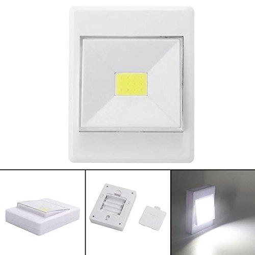 Bazaar Batterie Powered Wireless COB LED Closet Night Light Lampenschalter mit Magnetic