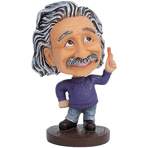 TAMMYFLYFLY Cute Albert Einstein Bobblehead Action Figure for Car Dashboard Einstein Statue Home Desk Decoration Toy