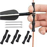 Eight Space 3PCS Protector de Dedos de Arco para Flechas, Protectores de Dedos de Cuerda, Fácil de Instalar,Arco Silicona De Tiro con Arco Accesorios de Arco y Flecha Apto para Principiantes (Negro)