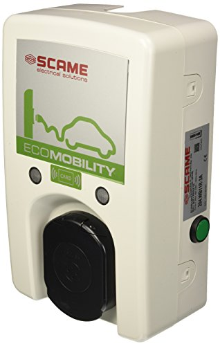 Scame Parre 204.WB11R-3A Wall Box per Ricarica Veicoli Elettrici, 1 Presa Tipo 3A-3.5Kw con RFID, 230 V, Grigio