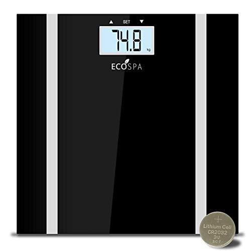 ECOSPA- Báscula de baño Digital con pantalla LCD , Incorpora medidor de grasa corporal e IMC