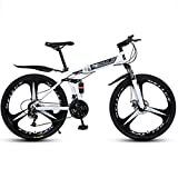 Bicicleta de montaña Mountainbike Bicicleta MTB Bicicletas de montaña plegable barranco de la bici del carbón marco de acero de 26' bicicletas de montaña con doble doble del disco de freno Suspensión