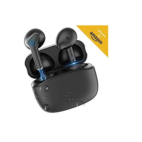Auriculares inalámbricos Bluetooth 5.0, Control táctil, IPX7 reducción del Ruido estéreo 3D HD, con micrófono y Estuche de Carga portátil Compatible con Todos Bluetooth Android/Airpods/Samsung/XIaomi