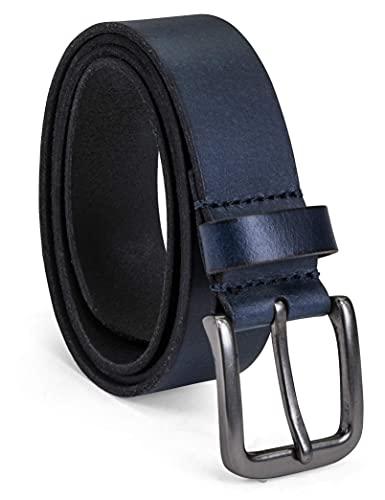 Timberland Men's Classic Leather Jean Belt, Navy, 34