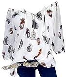 Bluse Damen Herbst Shirt Reizvoller Übergröße Half Ärmel Federdruck V-Ausschnitt...
