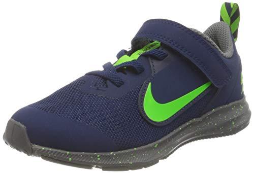 Nike Downshifter 9 Rw Walking-Schuh, Blue Void/Electric Green-GUNSM, 28.5 EU
