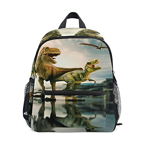 MMGN Dinosaurio Niños Mochila Cómodos Niños Niños School Bags Kindergarten Bolsa de Preescolar de Kindergarten 3-8 años de Escuela de Edad para niño (Color : 01)