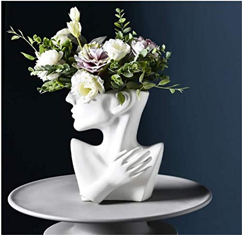 Bloempot, hoofdvaas, gezichtshuid, kleine bloempot, binnenin sappige druppels, gepersonaliseerde vaas, decoratie voor thuis