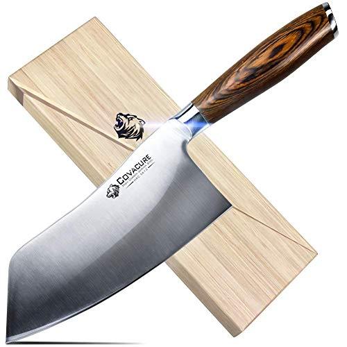 COVACURE Cuchillo de cocina de 18 cm – Cuchillo chino de cocina...