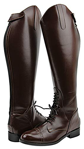Hispar Women Ladies Victory Leather English Field Boots Horse Back Riding Equestrian Brown