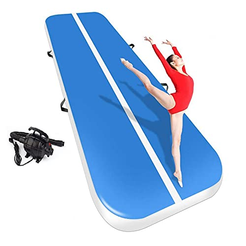Inflable Gimnasia Airtrack Yoga Inflable Tumbling Colchón Crossfit Colchoneta Inflable Rítmica Gimnasia Aire Track Fitness Air Track con Bomba de Aire Eléctrica 3m 4m 5m 6m