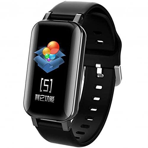 L.B.S T89 Multifuncional TWS Auriculares inalámbricos Auriculares Bluetooth Reloj Inteligente Auriculares táctiles Deportes Fitness Pulsera Tapones para los oídos para Android iOS(A)