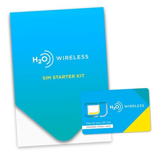 H2O Wireless 3-in-1 SIM Starter Kit for Unlocked Phones - Upgraded Plans 2021