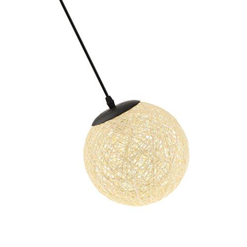 perfk Abat-Jour Plafond Lustre Suspension Décoration Maison Magasin 20cm - Beige