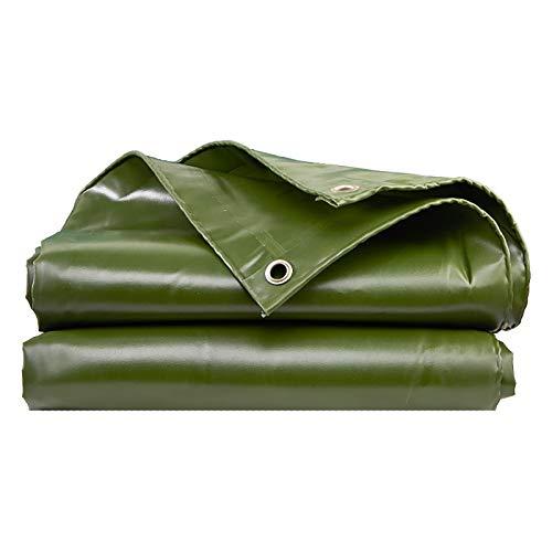 ZXCVASDF Lona, Lona Verde Reversible PVC 0,6 mm, Lona a Prueba roturas con Ojales de Metal Cada 100 cm, Refugio Emergencia para Lluvia, Cubierta para Exteriores y Uso para Acampar,300cmx300cm