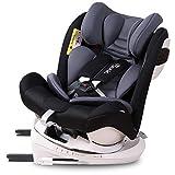 Bonio Kinder-Autositz 360° Drehfunktion Gruppe 0+/1/2/3 - Ab Geburt bis ca. 12 Jahre(0-36KG) Kindersitz mit Isofix