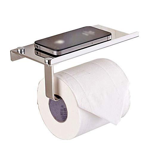 KANJJ-YU Soporte de papel para toallas de baño, de pie, fácil de instalar, para ahorrar espacio, soporte de toalla de acero inoxidable, soporte para toallas de baño, toallero de papel de baño