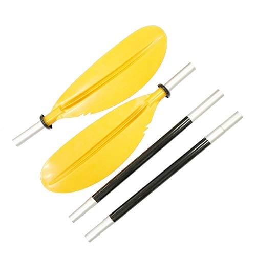 Leslaur Paddle en Color Aluminio Material Aleación 4 Secciones Canoa del kajak...