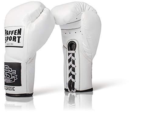 Paffen Sport «Pro Classic» Profi-Boxhandschuhe – weiß – 10UZ