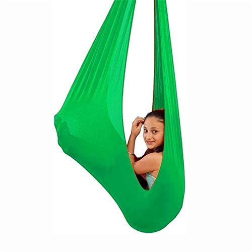 YUDIZWS Swing Therapy para Niños con Necesidades Especiales Columpio De Terapia Interior para Niños con Necesidades Especiales con Autismo Capacidad (Color : Grass Green, Size : 150x280cm)