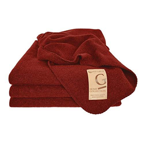 GIESSWEIN Wolldecke Marie - Waschbare Decke aus 100% Lammwolle, Warme Kuscheldecke aus Schurwolle, Tagesdecke, Atmungsaktive Schurwolldecke, 190 x 145 cm