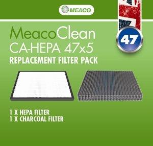 Meaco filtro per purificatore d' aria ca-hepa 47x 5, bianco/nero