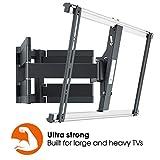 Vogel's Thin 550, Ultra fuerte soporte de Pared para TV muy grande (102-254 cm, 40-100 Pulgadas) y mayor peso (máx. 70 kg), Inclinable y Giratorio 120º, Sistema VESA máx. 600x400 mm, negro