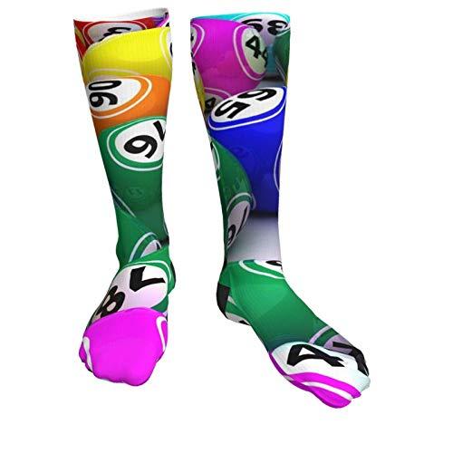 Compression Socks Women & Men Colorful Billiard Balls Heel Thick Socks - Best for Running,Athletic Sports,Flight Travel, Pregnancy, Soccer
