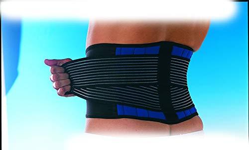 Medium Neopren Double Pull lumbalen Rückenstütze, Stabilisierende Lower Back Brace, Einstellbarer, Criss-Cross elastische Konstruktion, Korrigieren Schlechte Haltung, Neopren Kompression Wrap