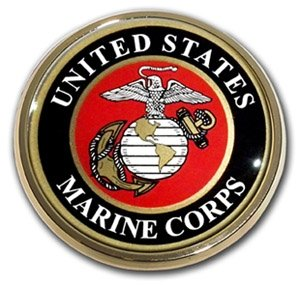 US Marine Corps USMC Gold Seal Auto Car Truck Motorcycle Emblem