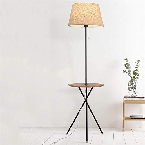 HYY-YY Floor Lamp, Scandinavische Creative Slaapbank Head Vertical Circular Rack Iron Floor Lights for Woonkamer Slaapkamer Koffietafel Lamp inbegrepen, A (Color : A)