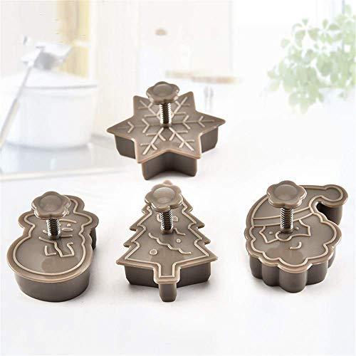 DOXMAL Weihnachten Ausstechformen Edelstahl Küchenhelfer für Weihnachten DIY handgemachte Seife Lebensmittel Torte Pudding Kuchen Muffin Keks Schokolade 4 Set
