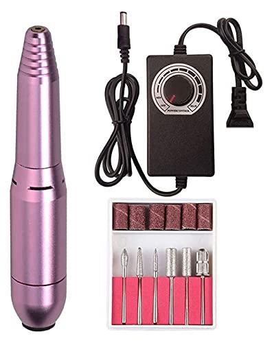 SHUHANG Máquina de Taladro de uñas Perfor de uñas eléctrico Manicura Pedicura Gel Removedor Kit Kit de uñas Taladro de Pulido Herramientas de Pulido (Color : Pink, Size : 12.5x2.3cm)