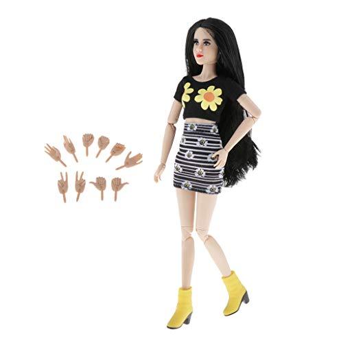 Harilla 12 `` Bambola Principessa Ragazza con 22 Snodi con 5 Coppie di Mani Parti Fai-da-Te Regali Giocattolo per Bambini