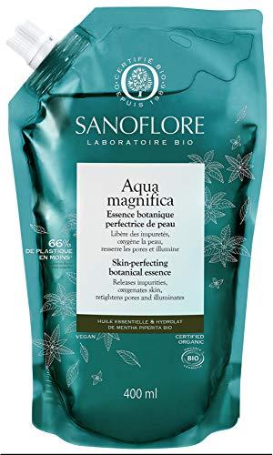 Sanoflore Aqua Magnifica Essence Botanique Perfectrice de Peau Bio Recharge 400 ml