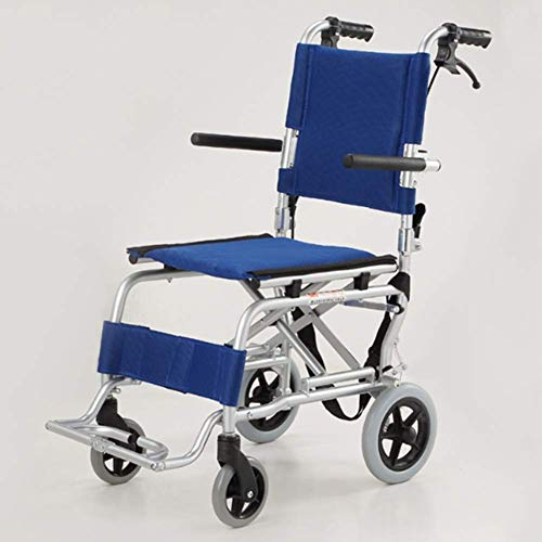 LIPENLI Silla de ruedas de conducción médica, plegables que los niños mayores ultra portátil de aluminio de aleación ligeras de viajes Aeronaves en silla de ruedas de amortiguación discapacita