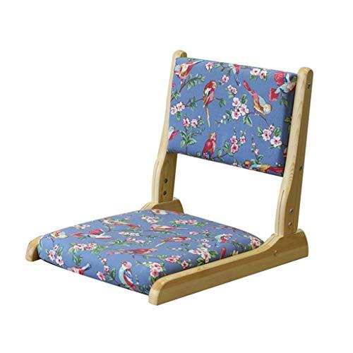 Chaise pliante Chaise de plancher Coussin Dossier Balcon Salon (non amovible) (Couleur : B)