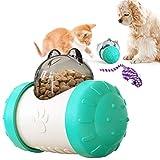 feihao Juguetes para Gatos Interactivos,Bola de Gato, Juguetes para Gatos Pelotas, Automático Dispensador de Comida para Gatos, Bolas Educativas