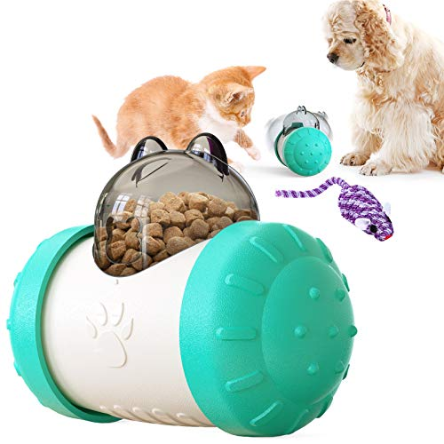 feihao Katzenspielzeug, Interaktives Spielzeug für Katzen, Teaser Spielzeug, Futterball für Langsam Fütterung Training Nahrungsuche
