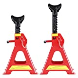 CARTMAN 3 Ton Double Locking Jack Stands with Safety Pin (Sold in Pairs)