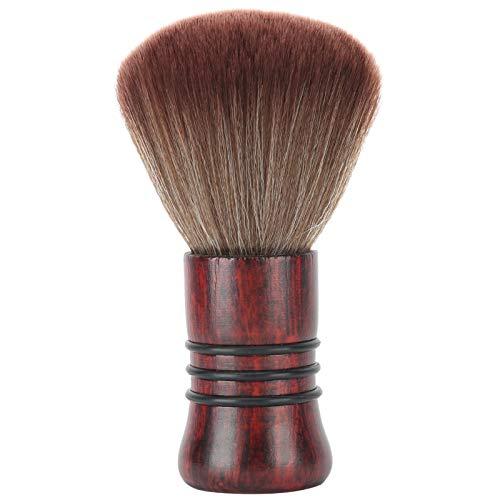 Cepillo de limpieza, cepillo de pelo de corte de pelo Cepillo de plumero de cuello Textura de madera maciza para eliminar el pelo alrededor del cuello después del corte de pelo