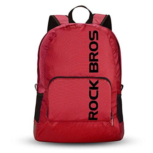 ROCKBROS Sac à Dos Pliable Résistant à l'eau Sac de Voyage Randonné Backpack en Nylon