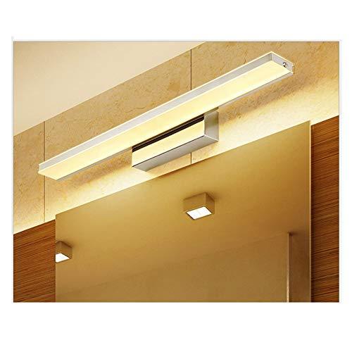 XIAJIA -9W 900LM Lámpara LED de pared, Lámpara de espejo Aplique de Baño LED 420mm 3000K para Espejo Muebles de Maquillaje Aparato Montado en la Pared(Blanco Cálido)